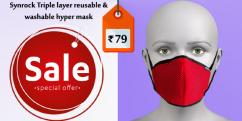 Synrock Triple layer reusable washable hyper mask