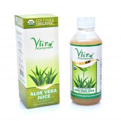 vitro naturals Certified Organic Aloe Vera Juice With Fiber