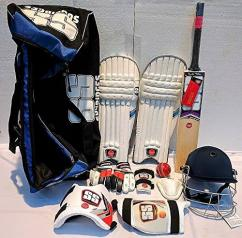 Full cricket kit available