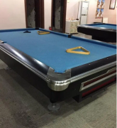 American pool table with accessories