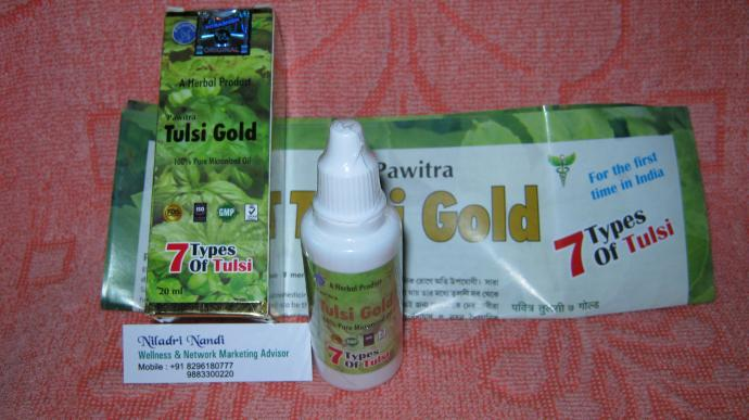 Pawitra Tulsi Gold Oil with 7 Types of Tulsi