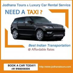 Taxi Services in Jodhpur - Cab hire services