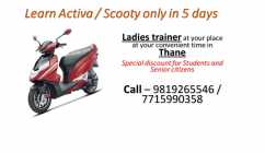 for Ladies two wheeler driving training at your nearest place & time