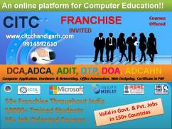 ISO certified Computer Center franchise throughout  India by CITC.