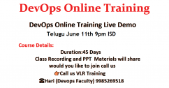 DevOps Online Training Live Demo Telugu