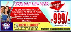 Brilliant New Year Offer any offered course for Rs 999 only