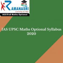 Ias upsc maths optional syllabus 2020