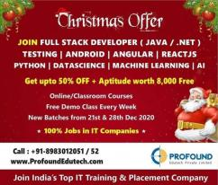 Join Full Stack Developer/Java/.Net/Testing/Python etc from 28 Dec