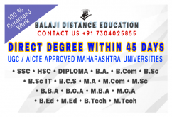 DIRECT DEGREE WITHOUT EXAMS IN 45 DAYS CALL 07304025855