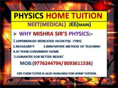 HOME TUTOR(9776244794) FOR PHYSICS NEET EXAM IN BBSR BY EXP FACULTY