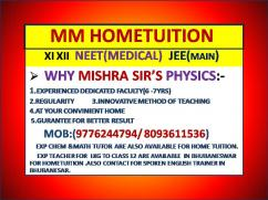 CBSE XII XI NEET JEE  PHYSICS BY EXPERT FACULTY (HOME TUITION) 8093611536