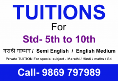 TUITIONs for std 5th to 10th in dadar
