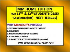 cbse 12th 11th physics home tutor in bbsr(8093611536)