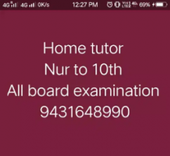 Home tutor nursery to tenth in dhaka village delhi