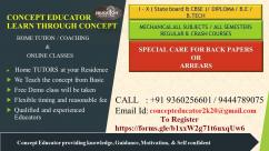 CONCEPT EDUCATORS - VELACHERY - TUITION- HOME TUITION
