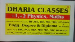 8 9 10 XI XII MTHS SCIENCE PHYSICS ENGLISH DHARIA CLASSES