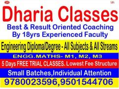 Engineering (Degree & Diploma) DHARIA CLASSES