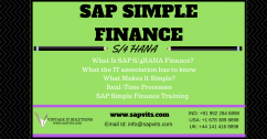 SAP Simple Finance Online Training in Chennai.
