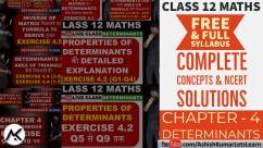 Determinants Class 12 Maths NCERT Solutions