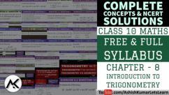 Introduction to Trigonometry Class 10 - Ashish Kumar Lets Learn