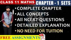 Online Tutorials for Sets Class 11 Maths