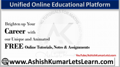 Unified Free Online Educational Platform - AshishKumarLetsLearn