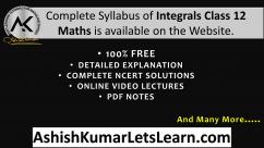 NCERT Chapter 7 Integrals Class 12 Maths