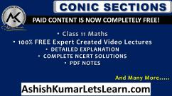 NCERT Chapter 11 Conic Sections Class 11 Maths