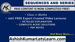 NCERT Chapter 9 Sequences and Series Class 11 Maths