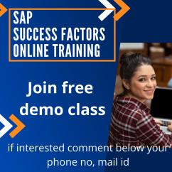 SAP Success factor online training Hyderabad Training cube