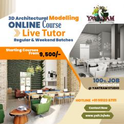 3D ARCHITECTURAL MODELLING ONLINE COURSE WITH LIVE TUTOR