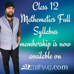 Full Syllabus of Class 12 Maths