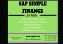 Sap Simple Finance Online Training In Chennai.