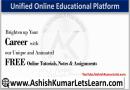 Unified Free Online Educational Platform - Ashishkumarletslearn