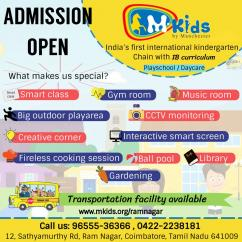 Best preschool in Coimbatore, best playschool in Coimbatore, Admission open for