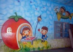 Cartoon painting work for pre school
