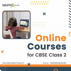 Takshila Learning offers online courses for CBSE Class 2.