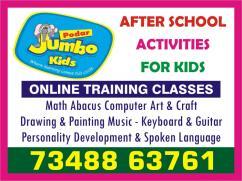 Podar Jumbo Kids Plus 7348863761 after School programs