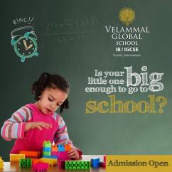 Admissions Open in Velammal Global School