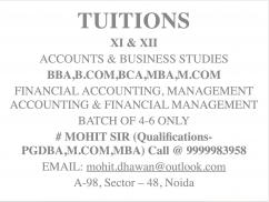 Study Circle - TUITIONS XI & XII ACCOUNTS & BUSINESS STUDIES BBA,B.COM,BCA,MBA