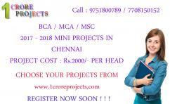 Final Year BCA Real Time Projects 2017 - 2018 1 Crore Projects Vadapalani Chenna