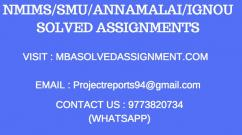 NMIMS 2018 SOLVED ASSIGNMENT (9773820734) 1st Sem, 2nd sem , 3rd Sem & 4th sem