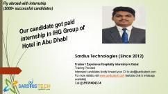 Dubai direct internship for Hospitality