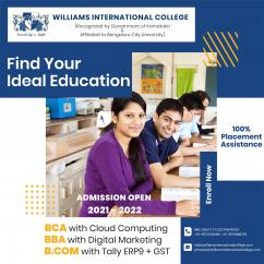 Top Ranked BCA college in RT Nagar  Williams International College