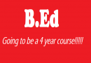 B.ed Course From 2 Years To 4 Years Soon